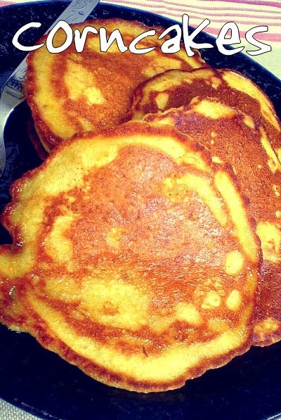Corncakes (Corn Pancakes) for the little man!