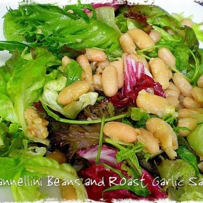 Ballads of Salads! – Cannellini Beans and Roast Garlic Salad