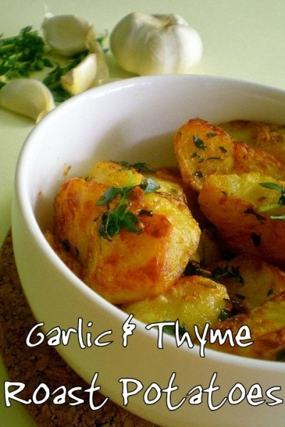 Mega Garlic and Thyme Roast Potatoes