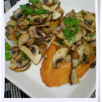 Mushroom Bruschetta – Back 2 Back