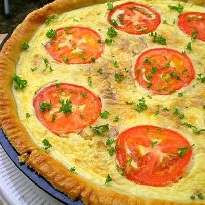 Caramelised Onions & Tomato Quiche – Back 2 Back
