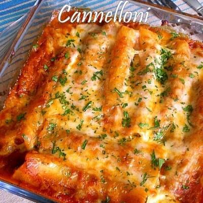 Rocket & Mushroom Cannelloni