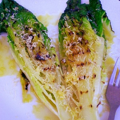 Grilled Whole head of Romaine Lettuce