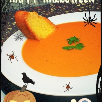 A Halloween dare…..Pumpkin Salsa Soup