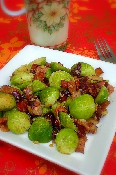 Brussel Sprouts with Cranberries