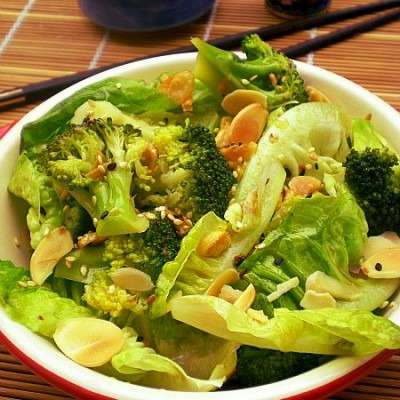 Eat More Vege – Asian Inspired Broccoli & Romaine Salad