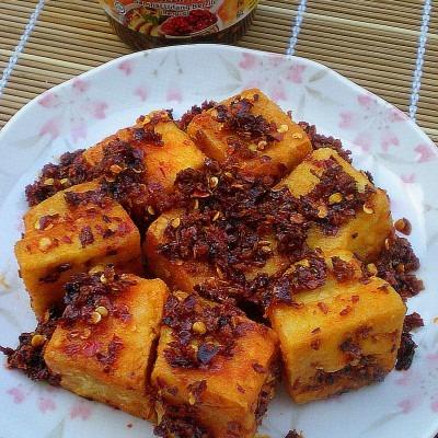 Crispy Tofu with Crispy Prawn Chilli (Sambal Udang Bercili)
