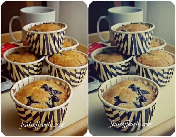 Cornmeal, Blueberry Muffins