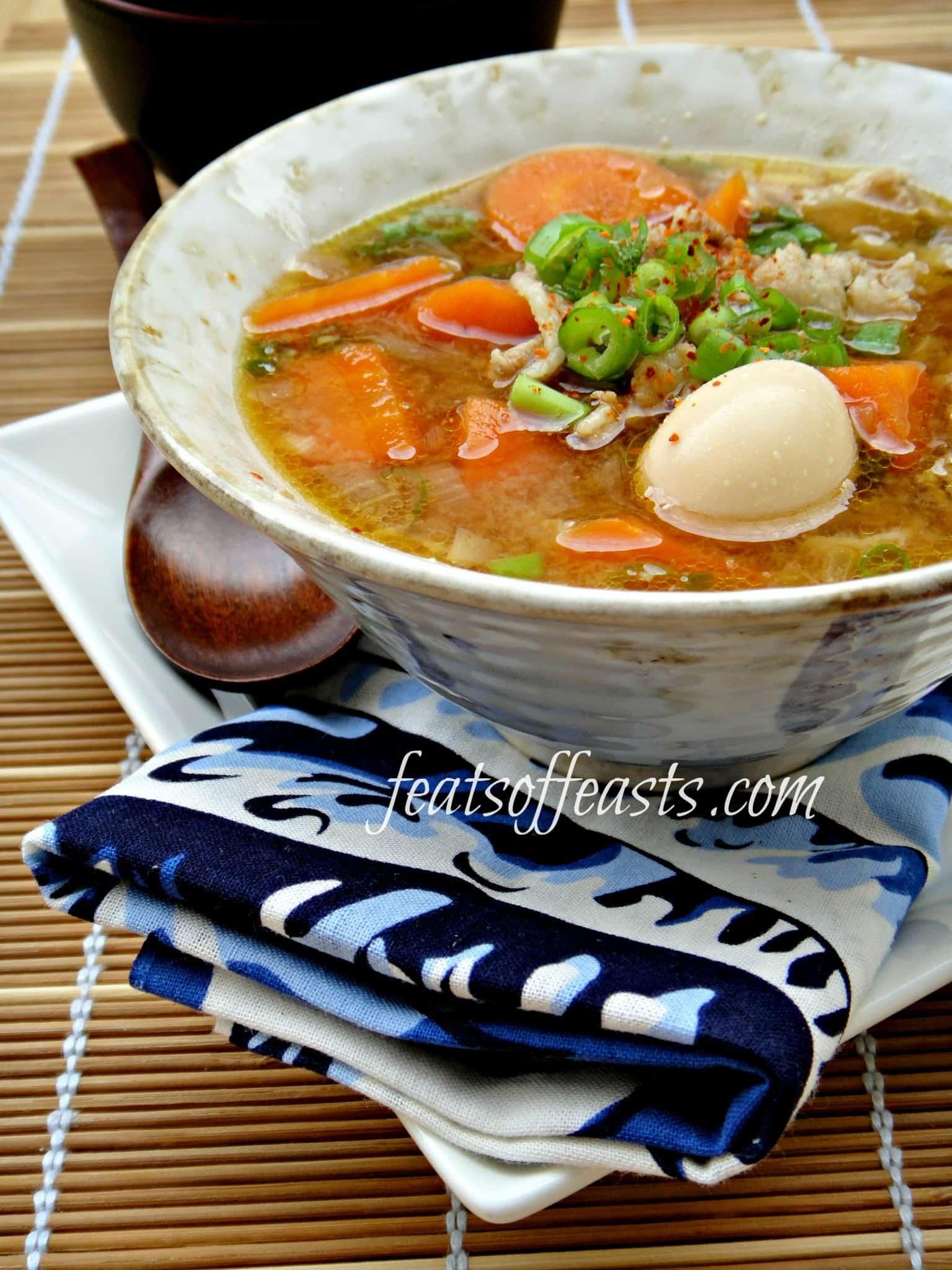 Tonjiru (Japanese Pork Miso Soup)