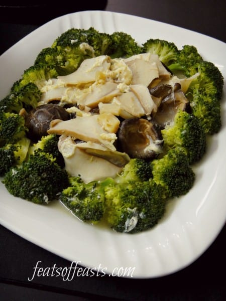 broccoli and mushrooms