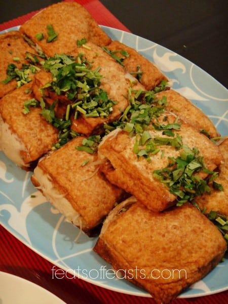 ah geh, taiwanese stuffed tofu f