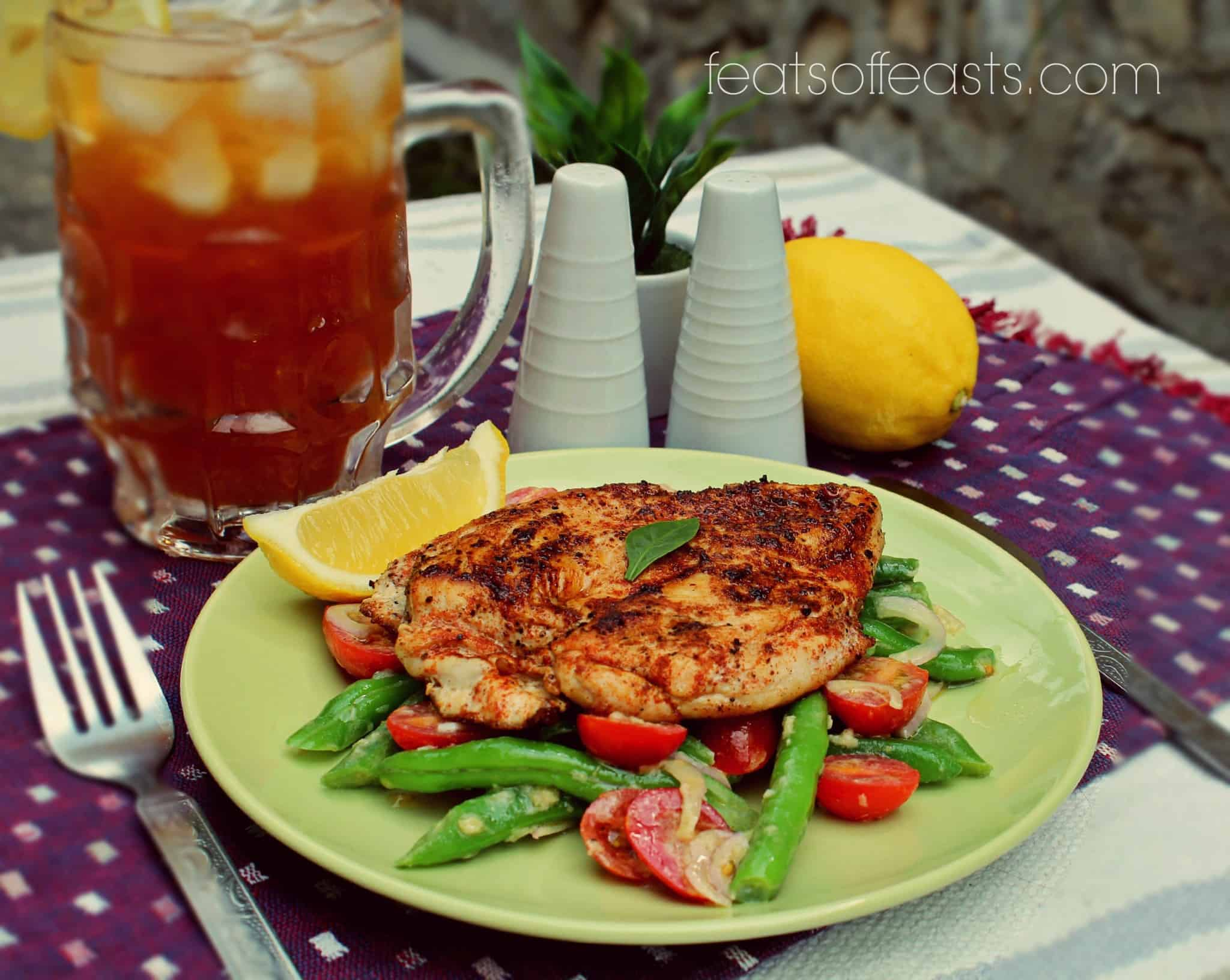 Chicken with Bean Salad