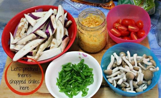 ingredients eggplant stir fry