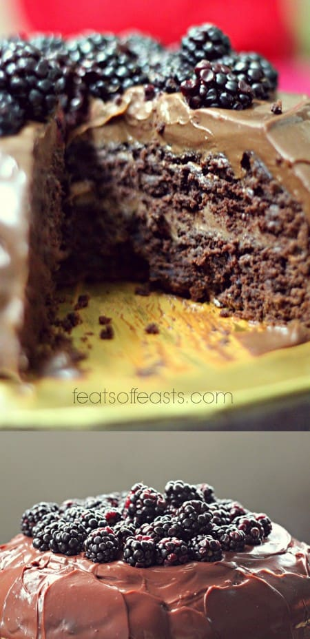 choc cake collage